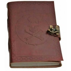 Skull and Bones Leather Journal Step Out of Time Steampunk and More Steampunk Costumes, Victorian Clothing, Pirate Costumes, Renne Faire Clothing