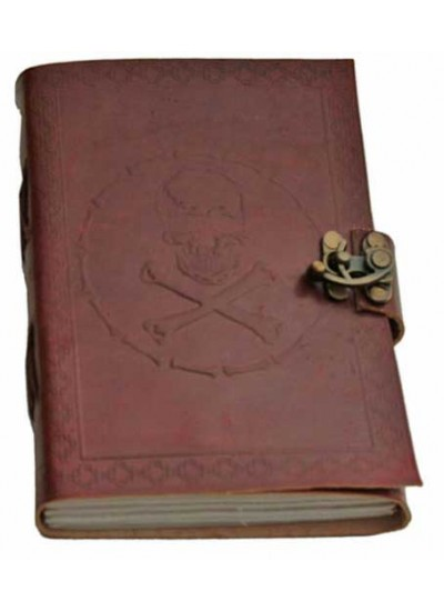 Skull and Bones Leather Journal at Step Out of Time Steampunk and More, Steampunk Costumes, Victorian Clothing, Pirate Costumes, Renne Faire Clothing