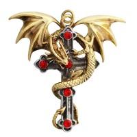 Crux Dragana Gothic Cross Necklace